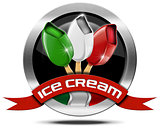 Italian Ice Cream - Metal Icon