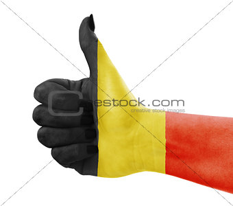Flag of Belgium on hand