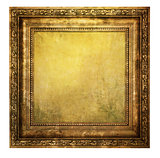 Yellowed wooden frame