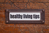 healthy living tips - file cabinet label