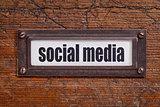 social media - file cabinet label