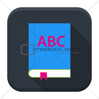 ABC English book app icon with long shadow