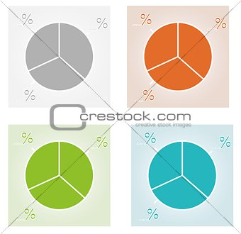 four color pie charts