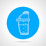 Shaker flat round vector icon
