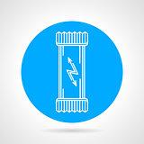 Protein bar flat round vector icon