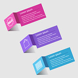 3D origami infographic design template