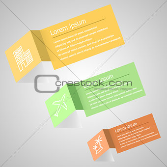 Abstract origami infographic design template