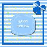 happy birthday card ribbon bow