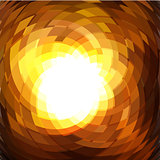 Explosion geometric gold background .