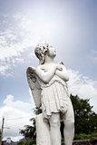 angel statue in a kilkenny graveyard