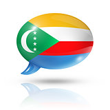Comoros flag speech bubble