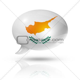 Cyprus flag speech bubble