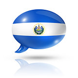 Salvadoran flag speech bubble