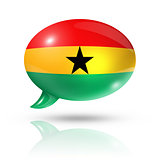 Ghanaian flag speech bubble