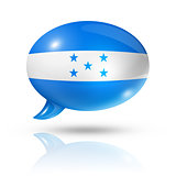 Honduras flag speech bubble