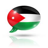 Jordanian flag speech bubble