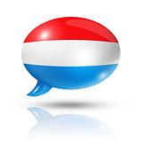 Luxembourg flag speech bubble