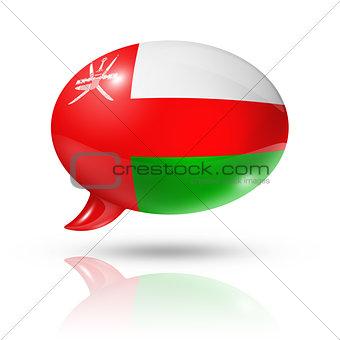Oman flag speech bubble
