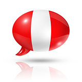 peruvian flag speech bubble
