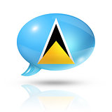 Saint Lucia flag speech bubble