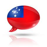 Samoa flag speech bubble