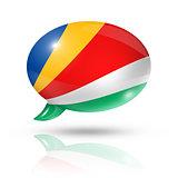 Seychelles flag speech bubble