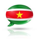 Suriname flag speech bubble