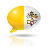 Vatican City flag speech bubble