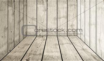 Old white wood box background