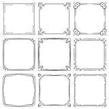 Vector set of square elegant frames
