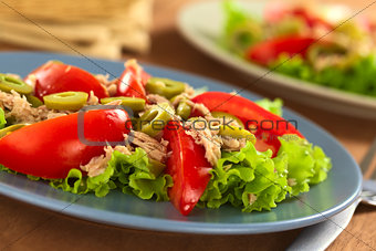 Tomato, Tuna, Green Olive Salad