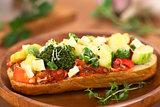 Baked Vegetarian Open Sandwich