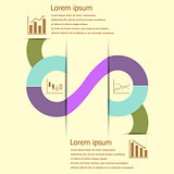 Stock and finance infographic design