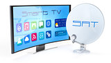 smart tv with satellite dish