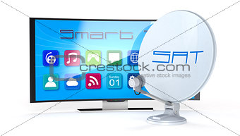 smart tv with satellite dish