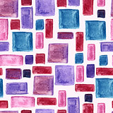 Vector Seamless Hand Drawn Watercolor Pattern