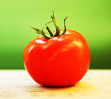 Closeup on red tomato