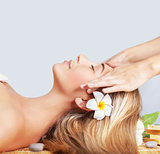 Calm woman enjoying massage