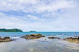 Green island and sea nature landscape
