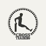 Cross Training man silhouet 2 logo