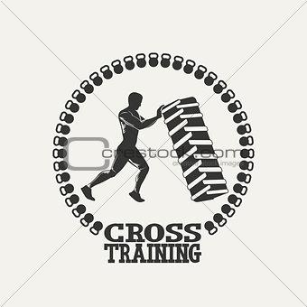 Cross Training man silhouet logo