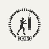Cross training boxing logo