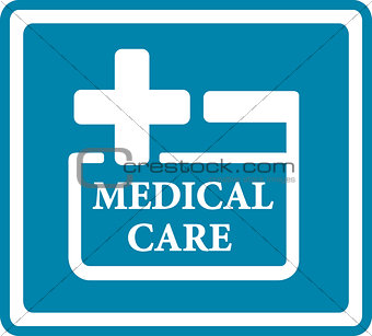blue medical icon for medicine industry