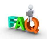 Providing online the answers to FAQ