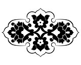 black artistic ottoman pattern series eighty