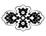 black artistic ottoman pattern series eighty