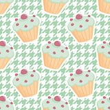 Tile vector cupcake pattern