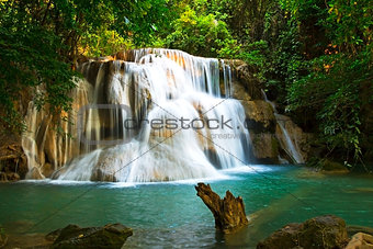 Waterfall emerald sunlight