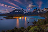 Lago Pehoe National Park Torres del Paine in southern Chile