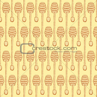 Sketch honey stick in vintage style